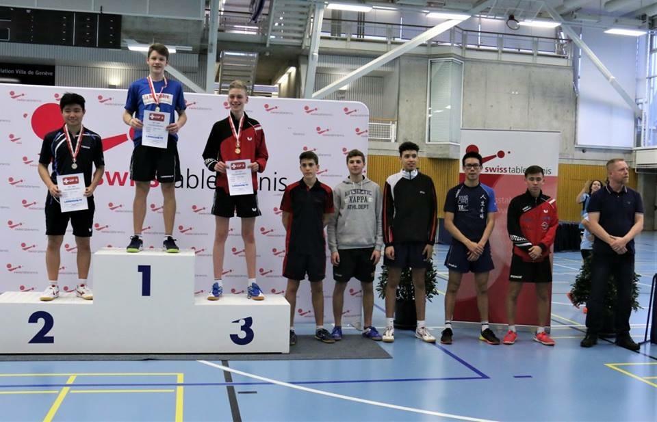 Podest U18 (Foto: Swiss Table Tennis)