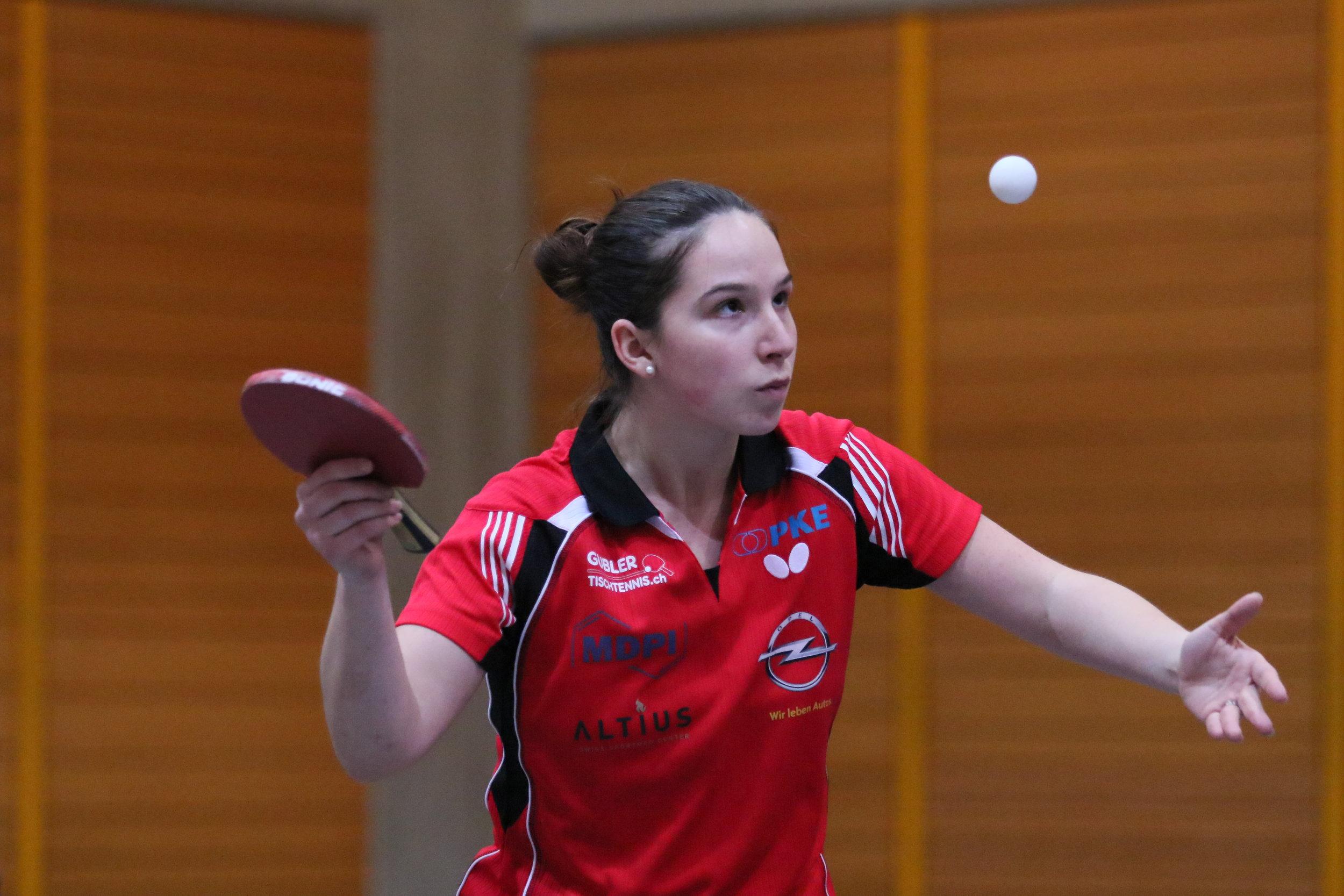 Rijana Zumbrunnen war mit zwei Siegen die erfolgreichste Muttenzer Spielerin am Sonntag (Foto: Sportfotos Lüthi)