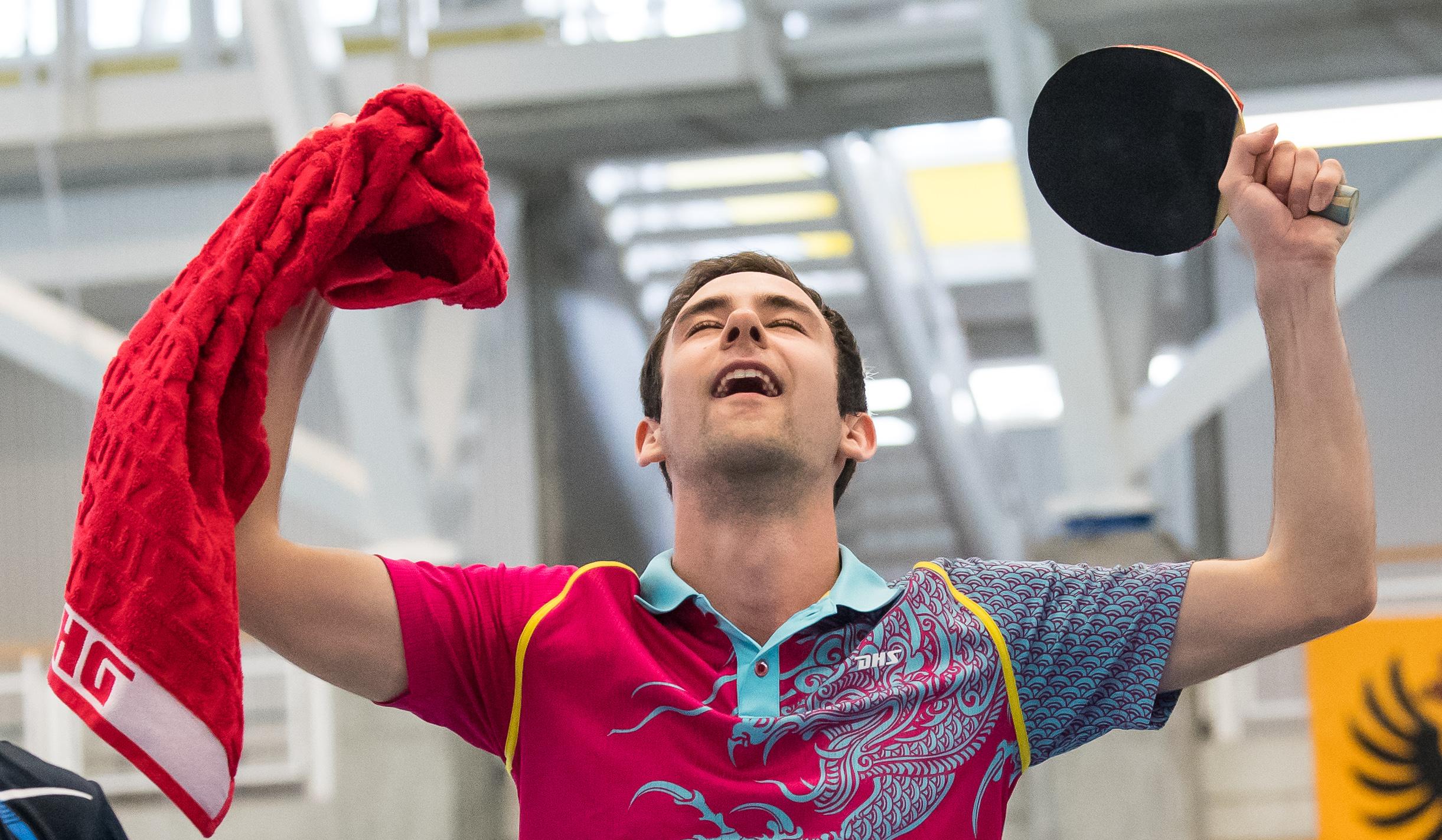 Lionel Weber nach seinem Triumph (Foto: René Zwald)