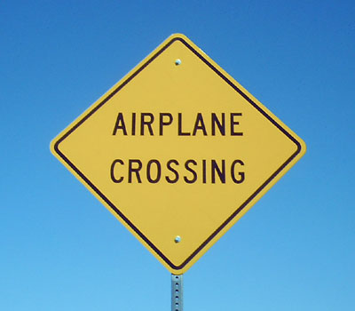 Airplane Crossing