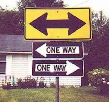 One Way Both Ways Double Take