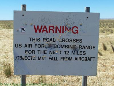 Warning: Air Force Bombing Range