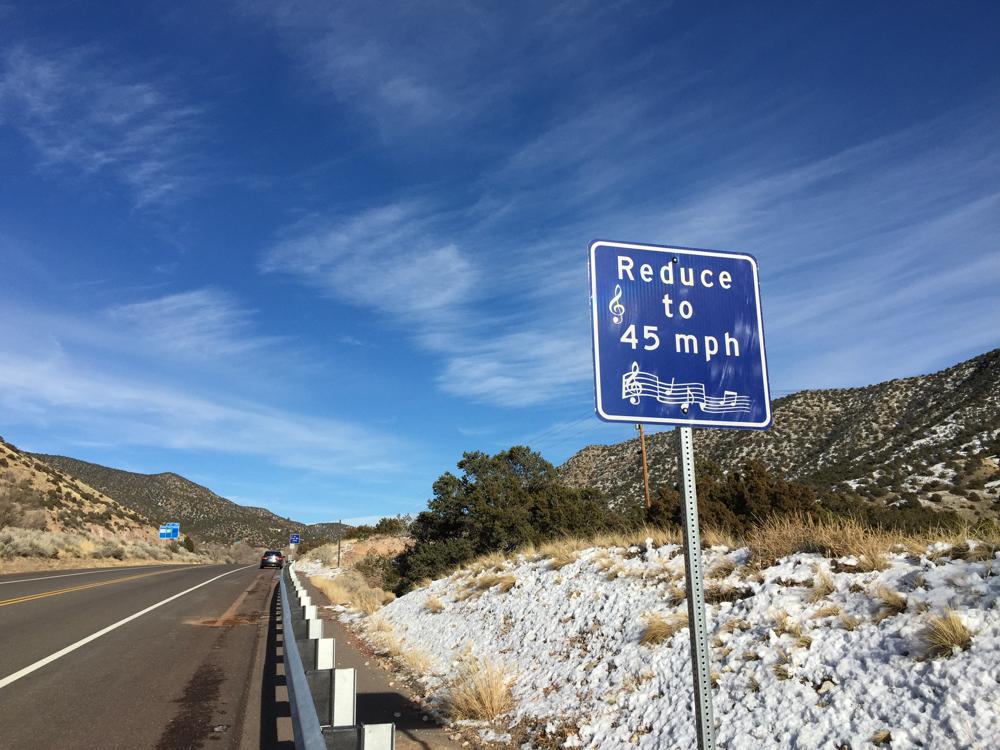 Tijeras Musical Road: Tijeras, New Mexico