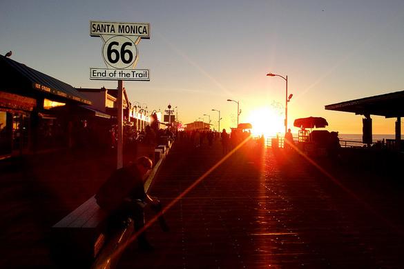 Santa Monica Pier: Santa Monica, California