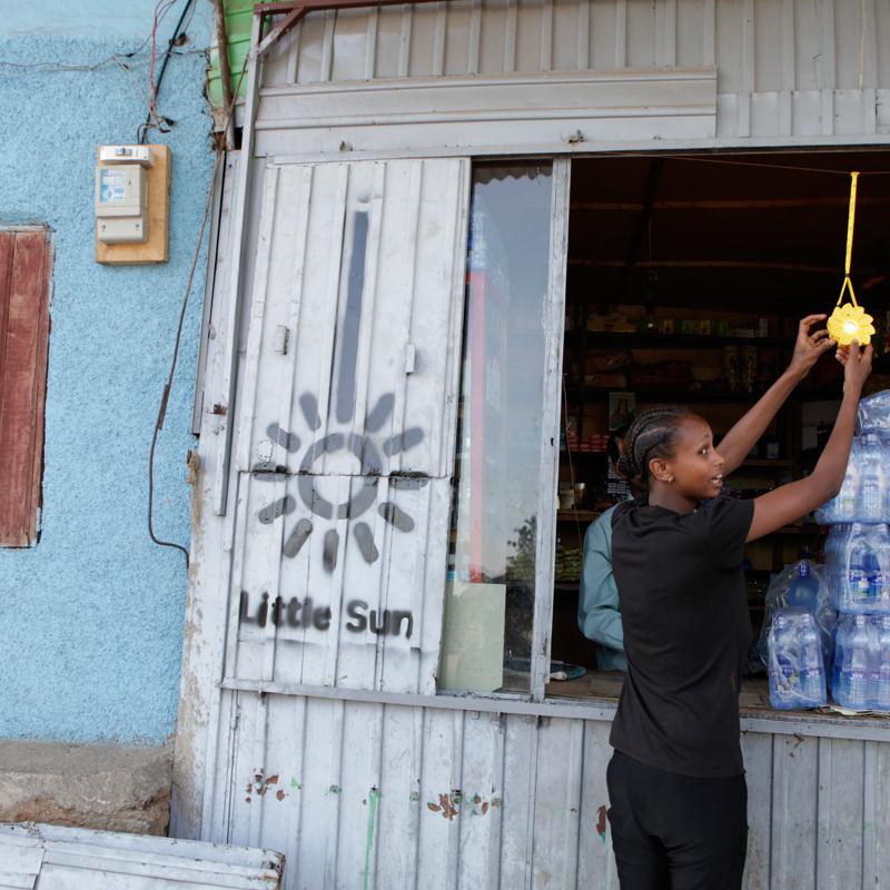 A kiosk in Kenya