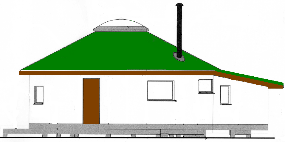 A glimpse into the appearance of our straw bale roundhouse