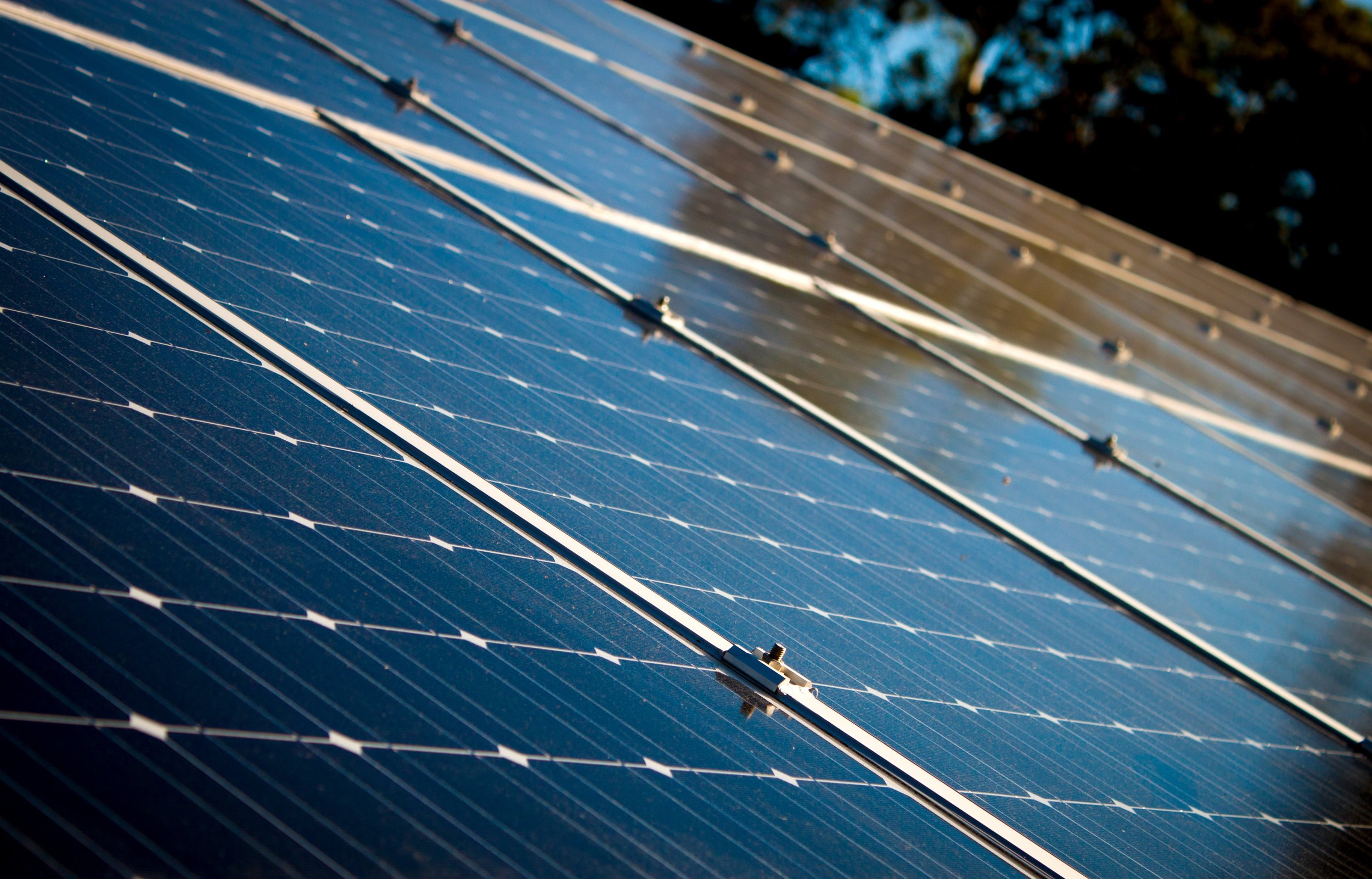 Solar PV panels generating 5KW of solar electricity