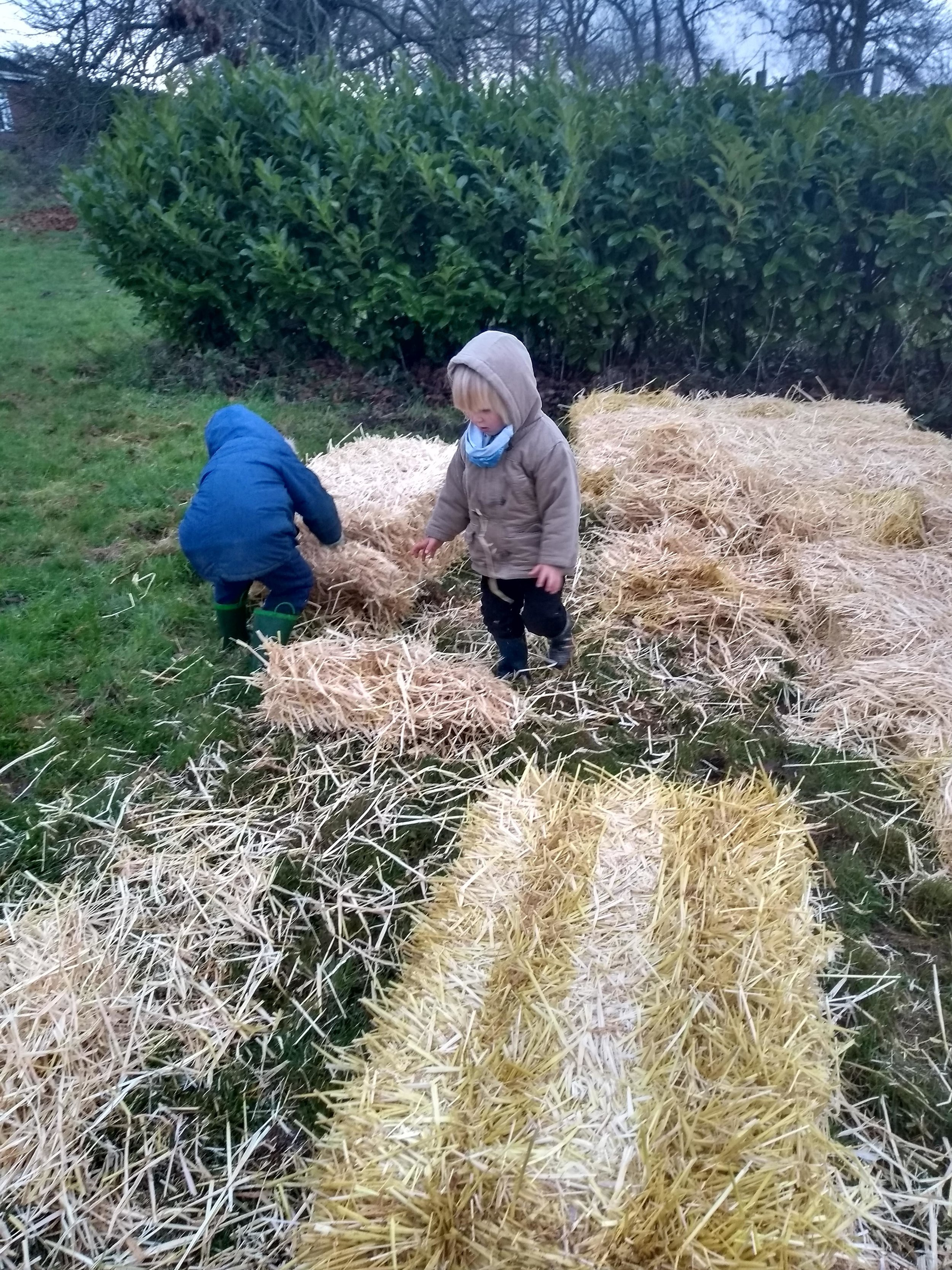 boys making straw bed.jpg