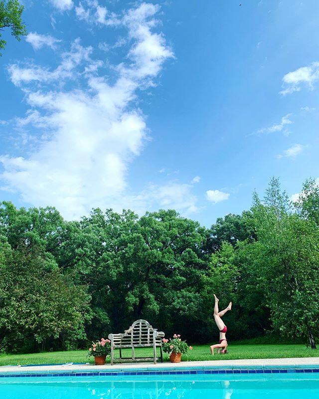 """Namaste by the pool"" - Kit"