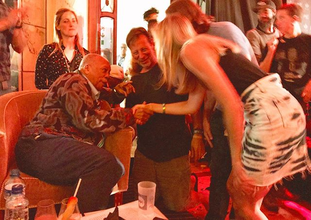Summoned to the throne of the one and only, Mr. Quincy Jones.