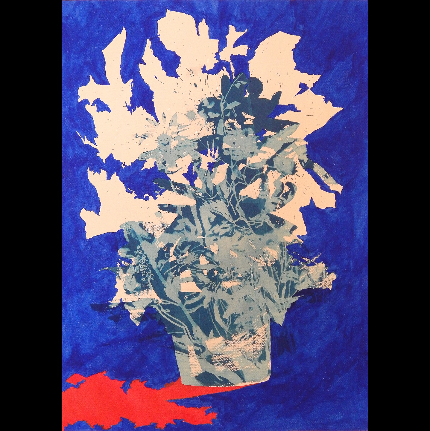 Still Life #3, 2012, acrylic & cyanotype