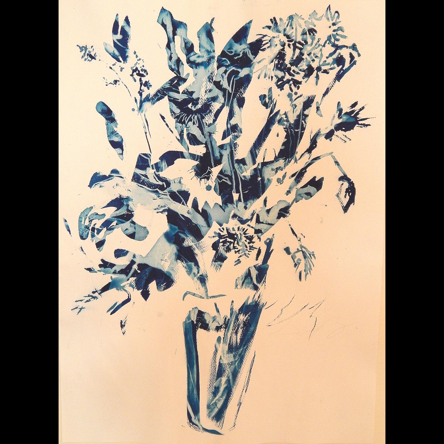 Still Life #1, 2012, cyanotype