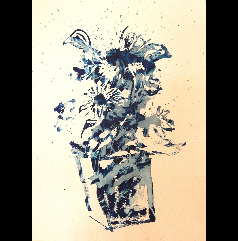 Still Life #2, 2012, cyanotype