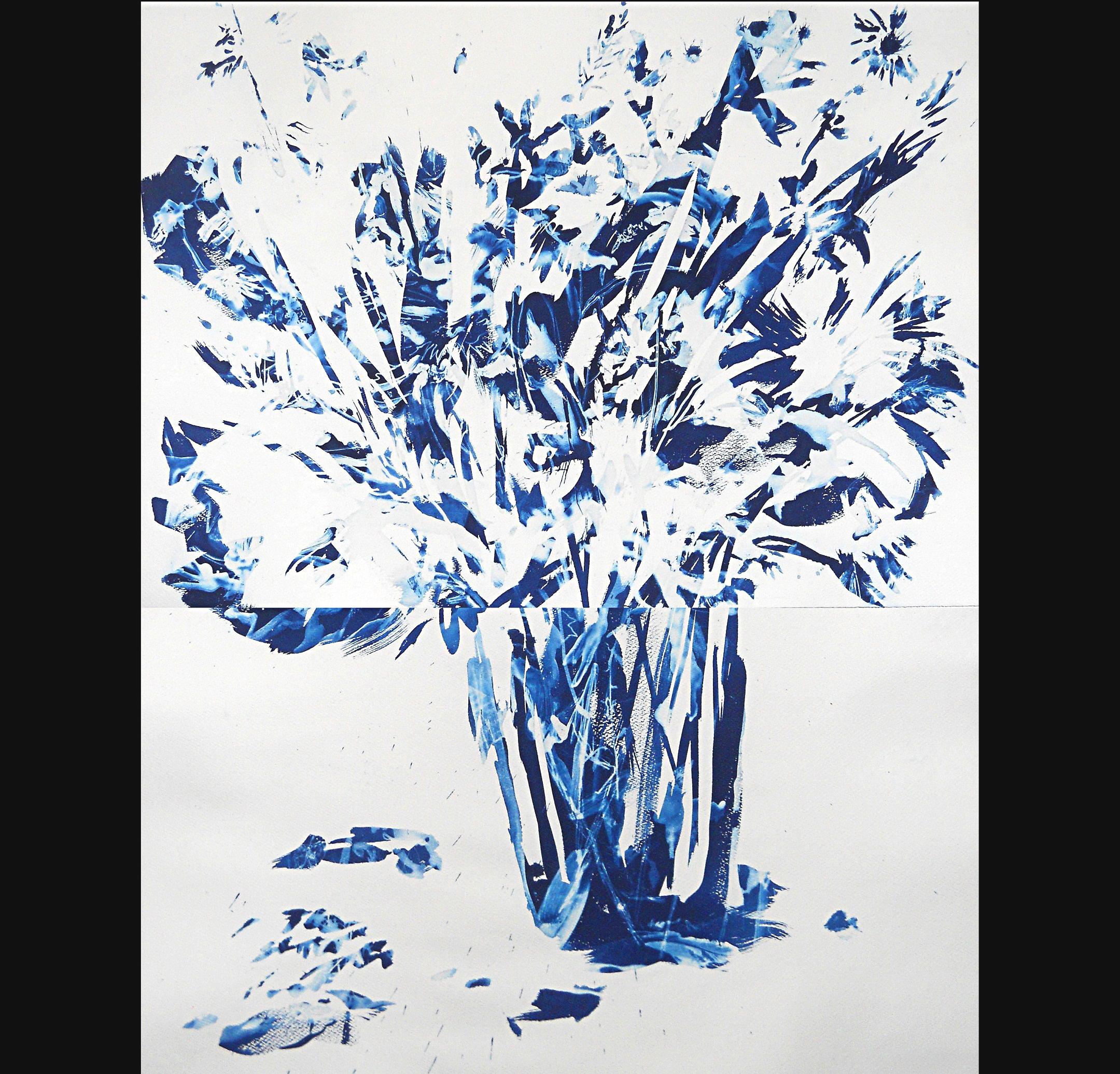 Still Life #4, 2012, cyanotype