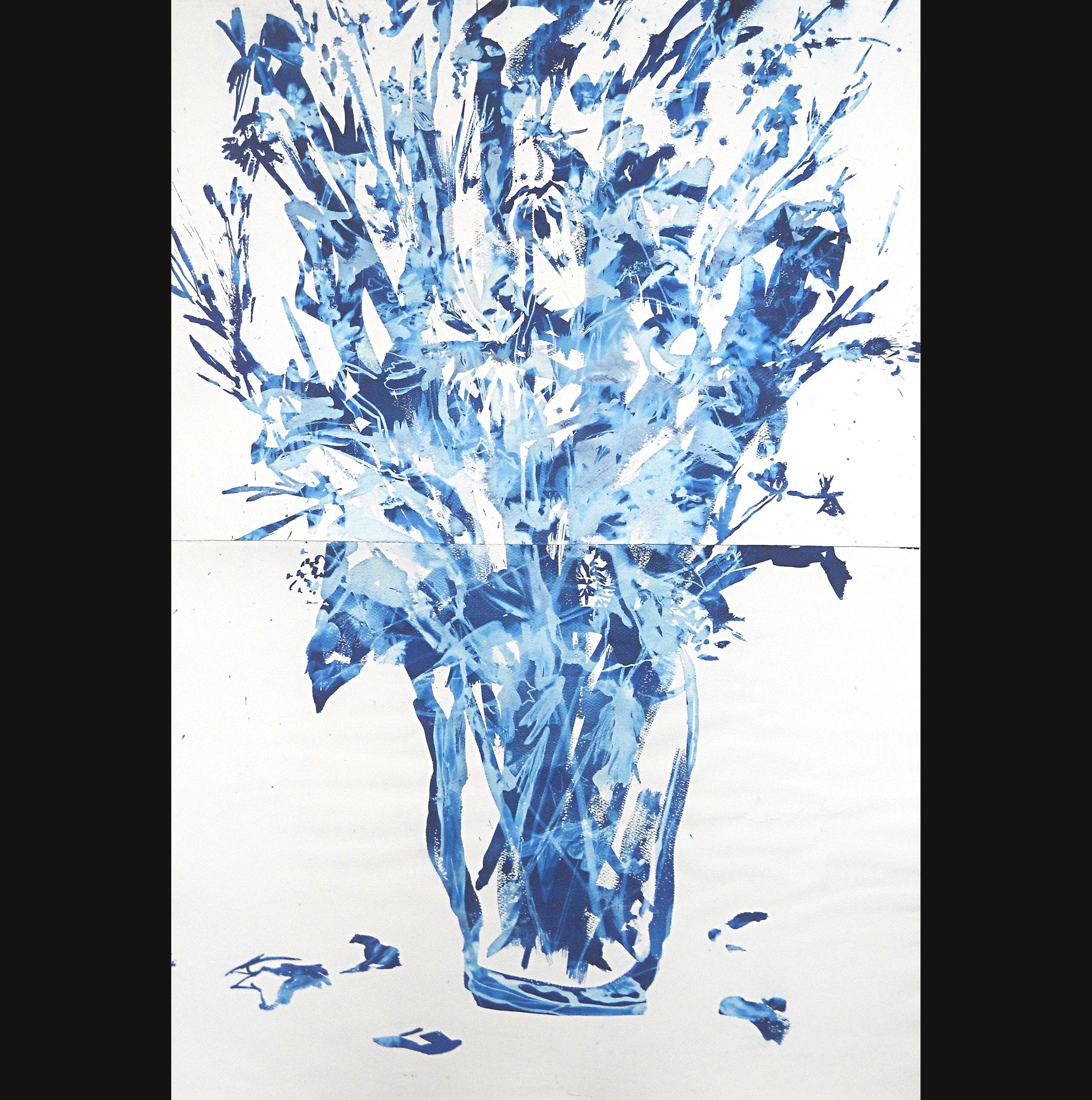 Still Life #5, 2012, cyanotype