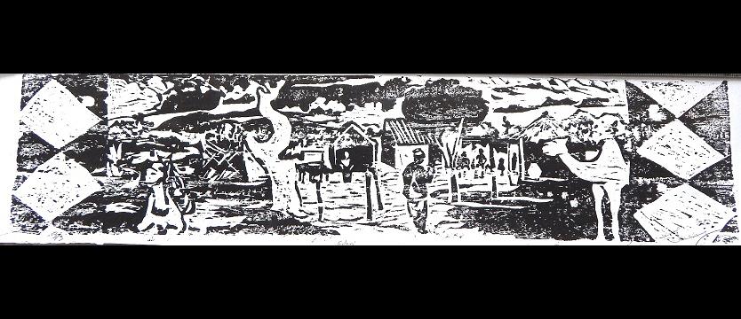 Fulani, 2014, woodcut