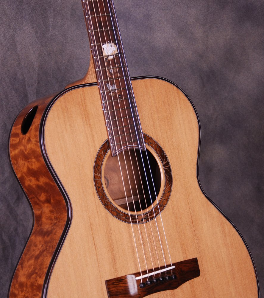 """S/N 399 Limited- """"The Moonlit Rose"""" - """"The Tree"""" Mahogany Back/Sides, Sinker Redwood Top"""