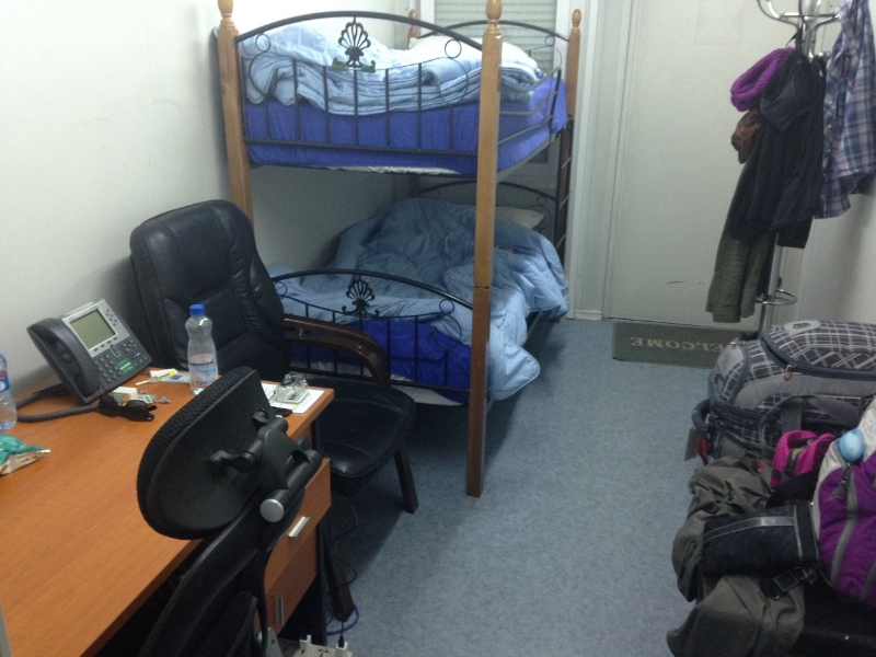Sleeping quarters...