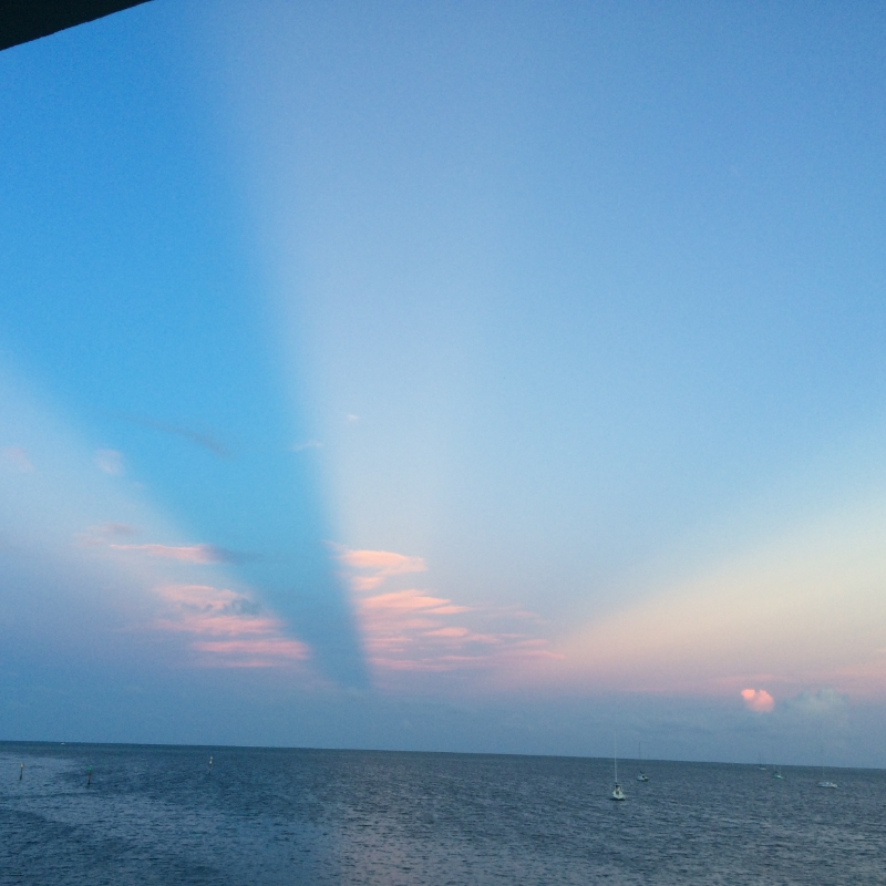 Crazy sky and view from our condo. God, the ultimate Creator.