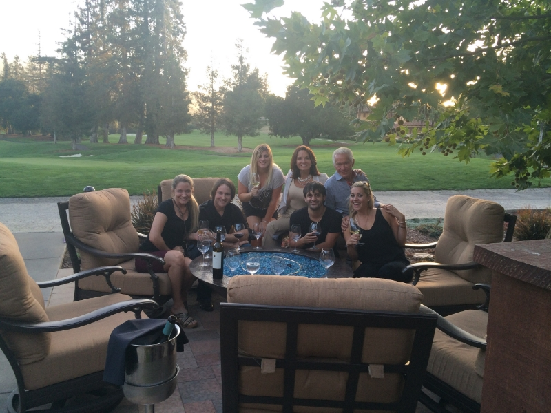 At the gorgeous country club where the fundraiser was held with our lovely hosts Sam & Tricia!