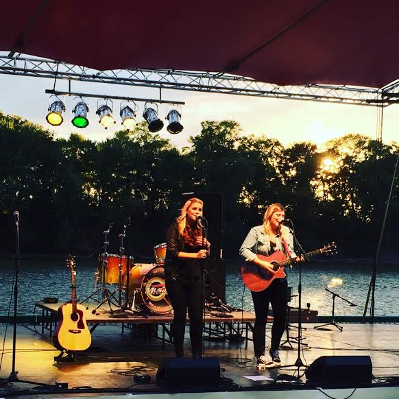 This was us playing at Riverfest. What a beautiful backdrop!