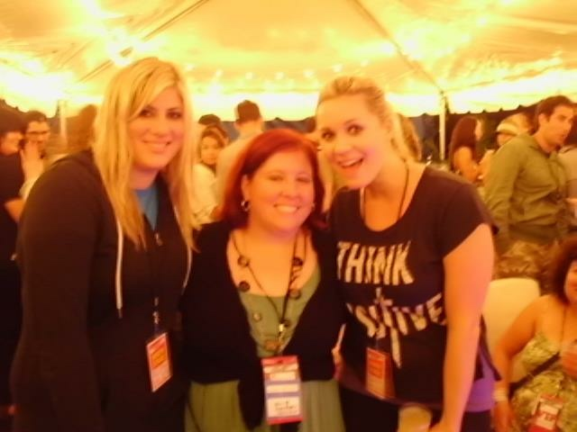 This was in Pennsylvania at the Mix tap Festival. We made so many new friends that night...including Julie! Yay!