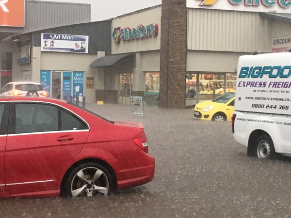 This is a small glimpse of the flooding...and also that's the grocery store Bill was trapped in!
