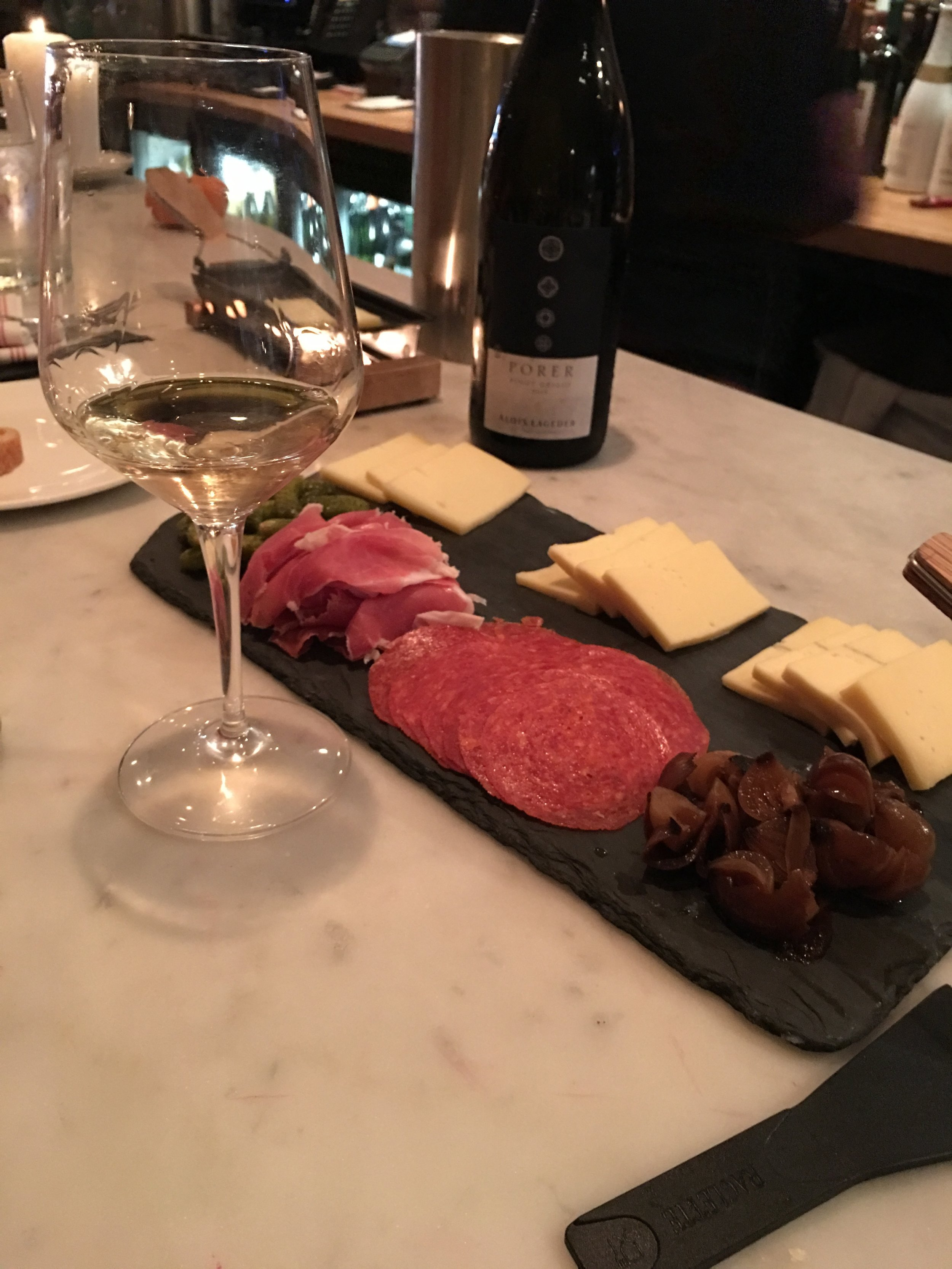 This was at Murray's Cheese in NYC. It's all the fixings for a raclette. We'll call this the  N-Y-Cheese Plate.