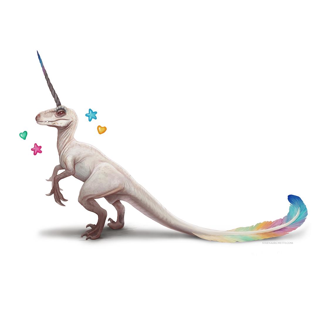 unicorn raptor photoshop digital painting by serena archetti.jpg