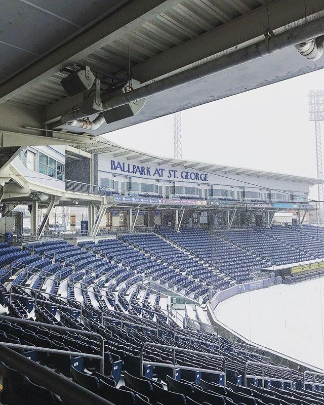 Stadium in the snow  2/2