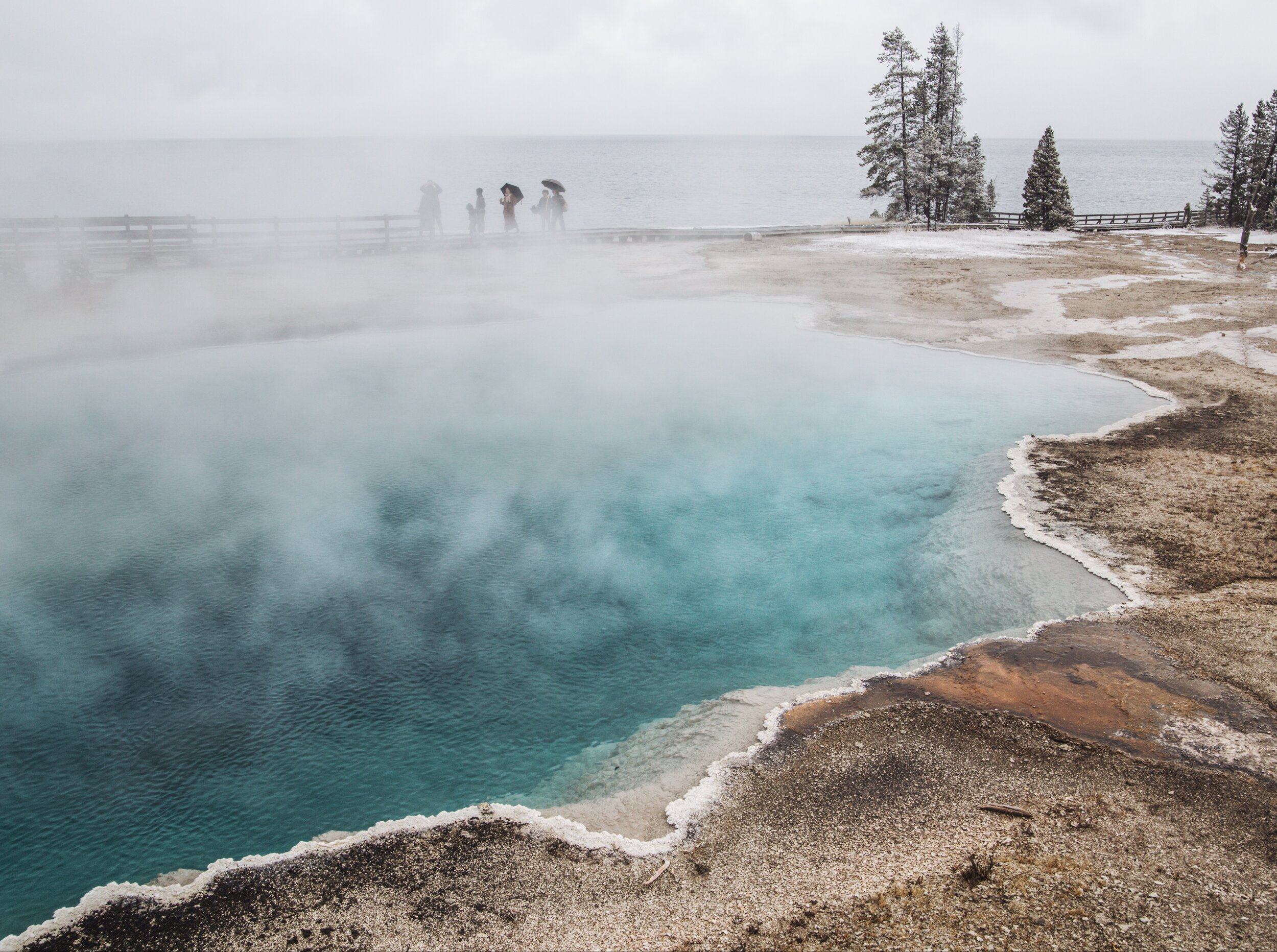 Blue Pool at West Thumb Geyser Basin.