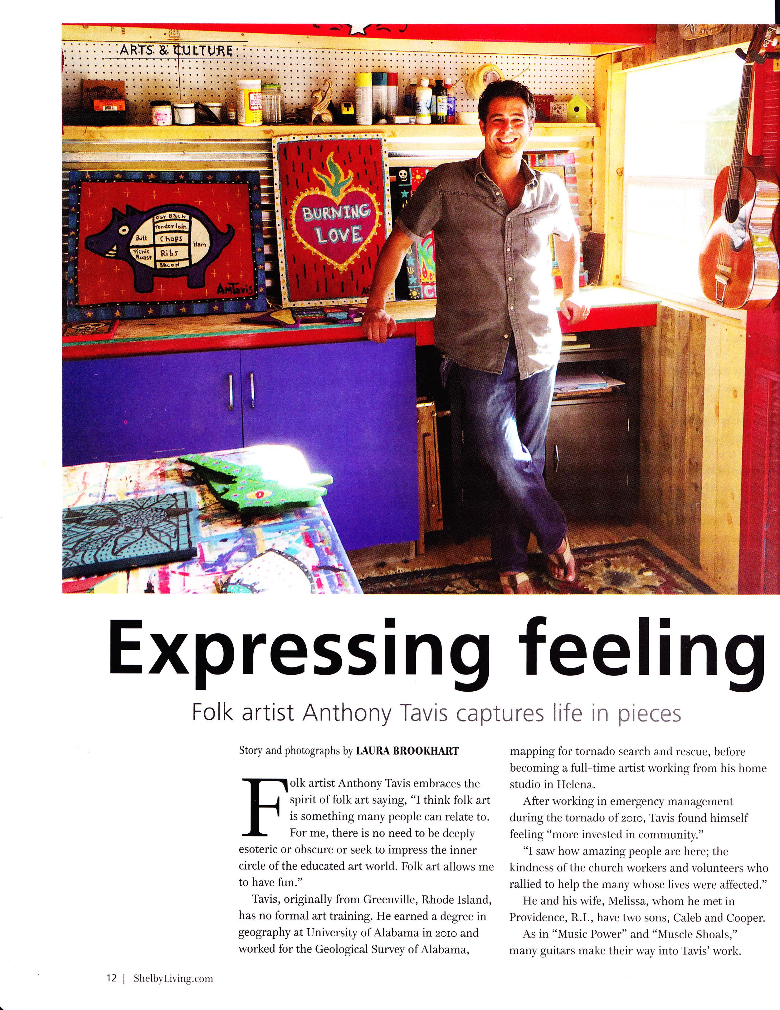 Shelby Living Magazine, September 2016, Laura Brookhart