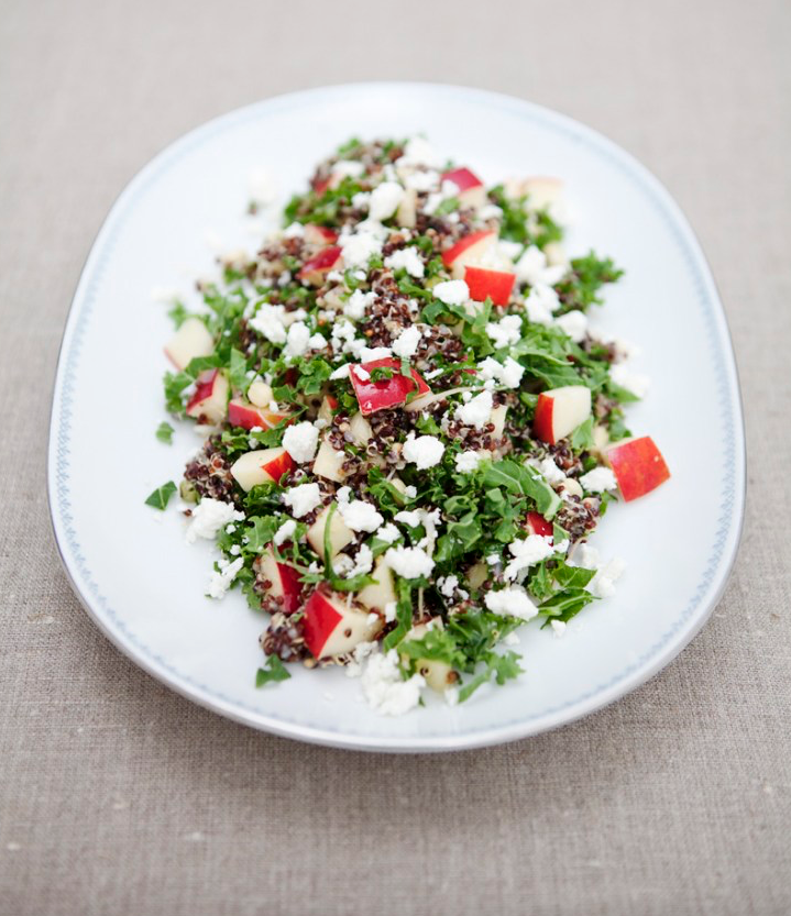 Black Quinoa & Kale Salad -