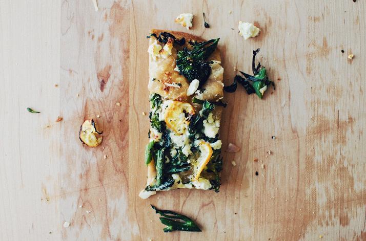Broccolini + Charred Lemon Flatbread -