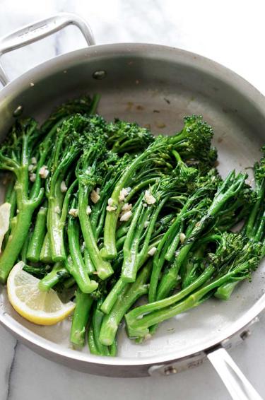 Garlic Butter Sautéed Broccolini -