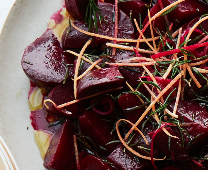 Roasted Beets with Grapefruit and Rosemary -