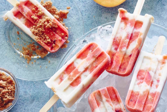 Peaches 'n cream Pops -