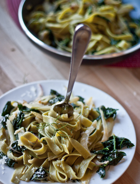Pasta with Fennel, Kale, and Lemon -