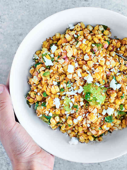 Grilled Mexican Corn Salad -