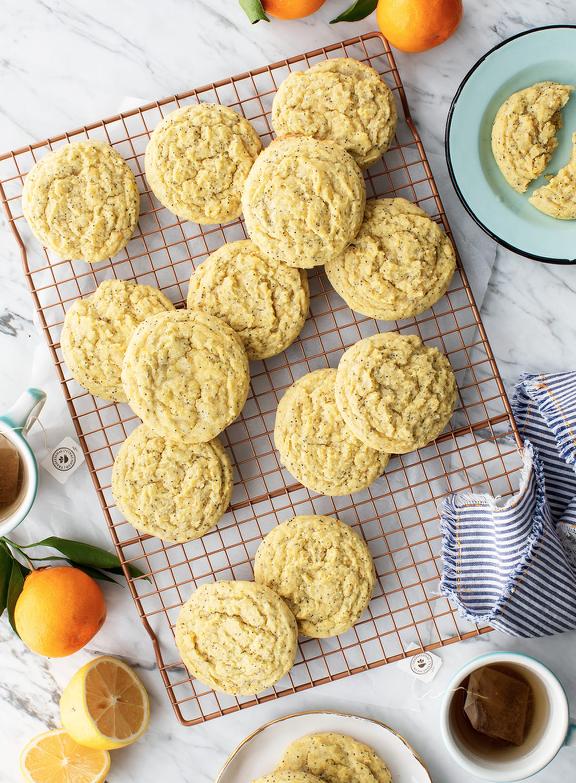 Citrus Poppyseed Lemon Cookies
