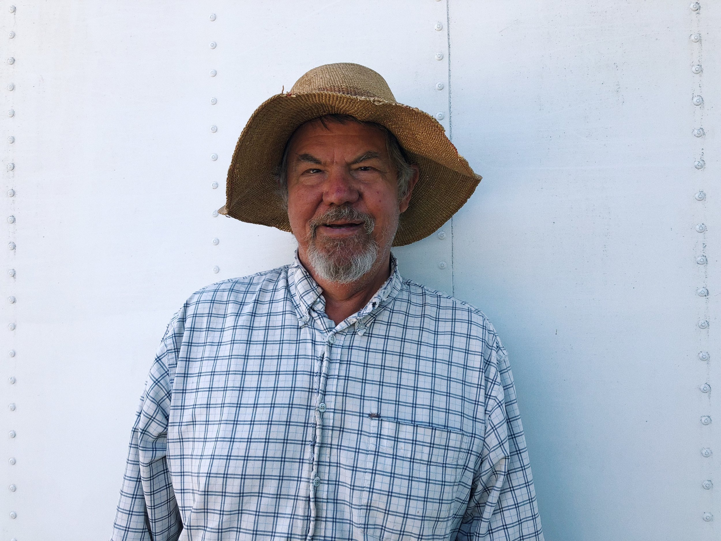 This is Steve Sprinkels. I'm not exactly sure what his farm name is called but he is the farmer for Farmer and the Cook the famous restaurant in Ojai. Steve is known for having incredibly good looking produce, and healthy soil.