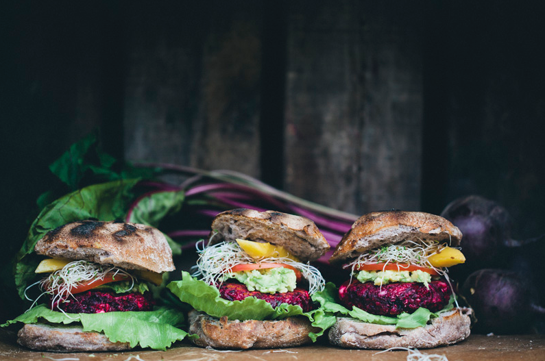 Grilled Beet Burgers -