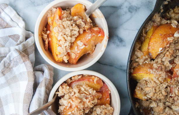 Spiced Peach Crisp -
