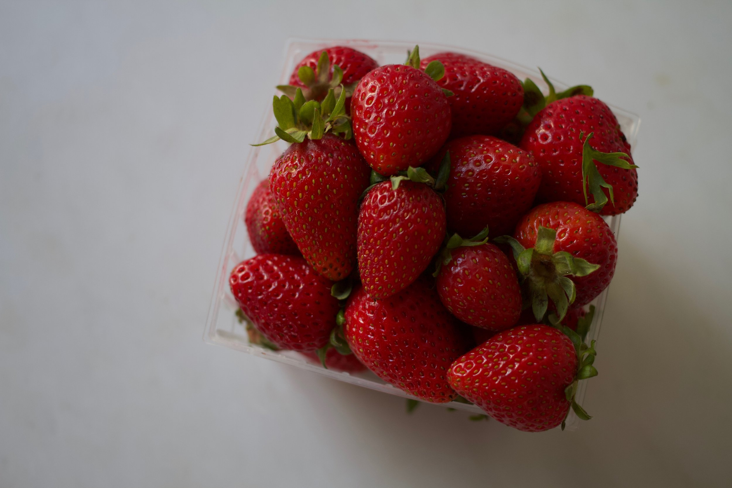 Albion Strawberries: Too Small and perishable for the supermarket. Always perfect for us.