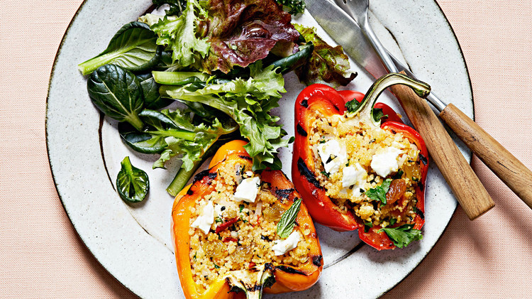 Grilled Vegetarian Stuffed Peppers -