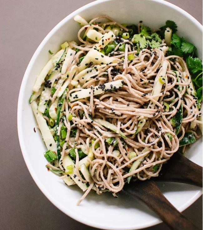cucumber soba noodles -