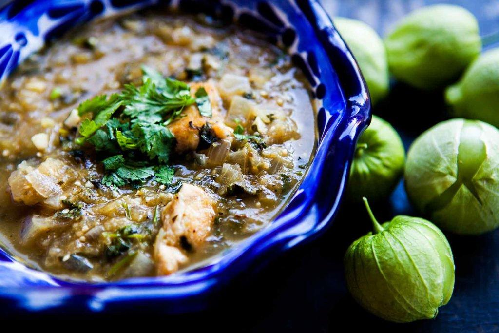 Tomatillo Chicken Stew -