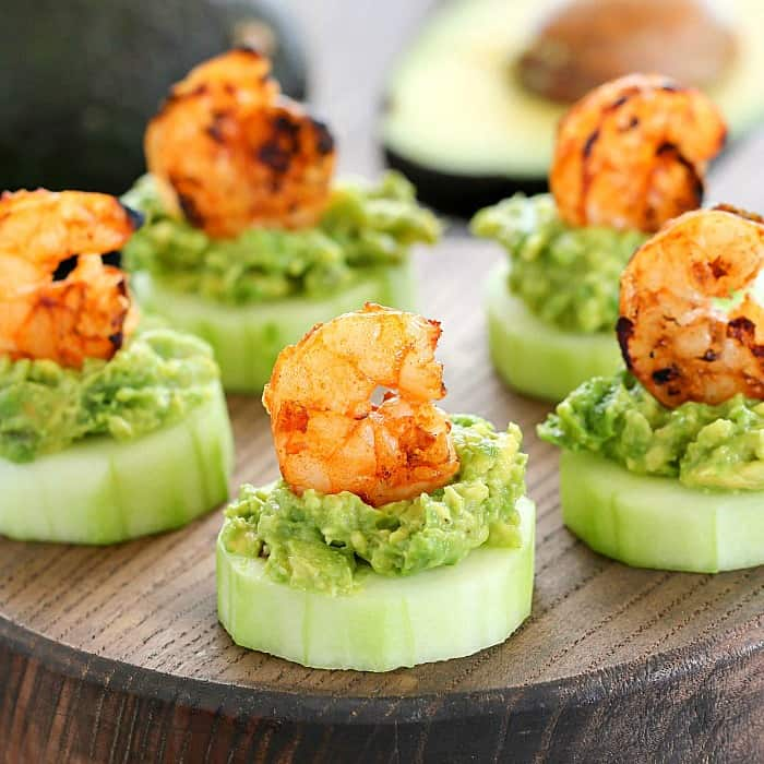 Shrimp Cucumber Appetizer -