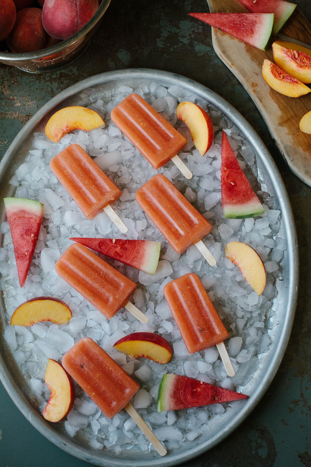 Watermelon Peach Popsicle -