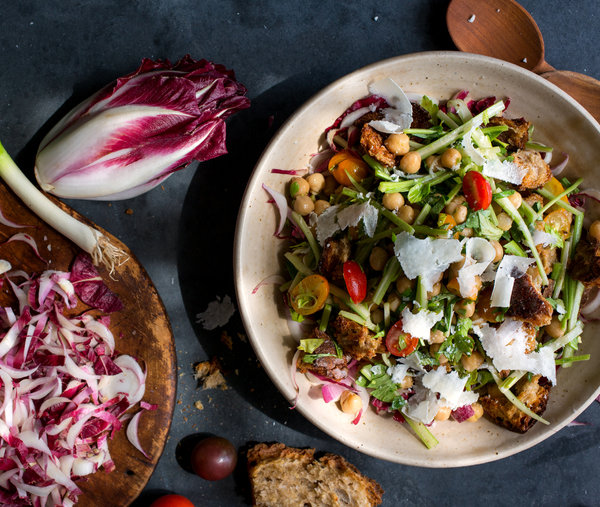 Marinated Celery Salad With Chickpeas and Parmesan -